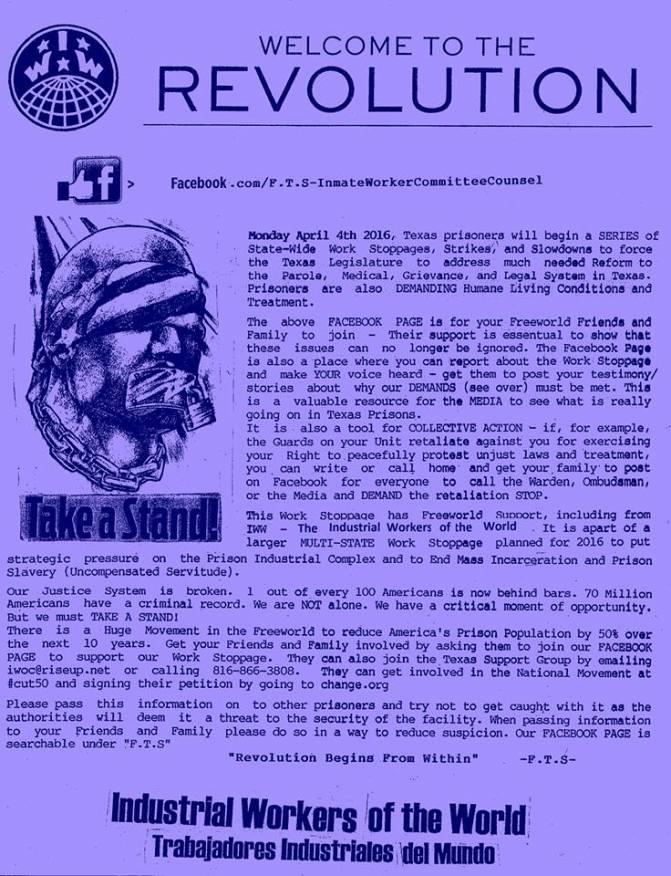 revolution prison strike